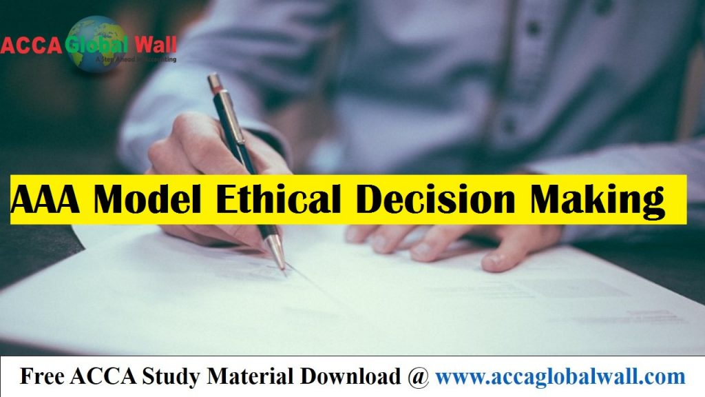 AAA Model Ethical Decision Making - ACCA Study Material