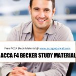 ACCA F4 BECKER STUDY MATERIAL ACCAGLOBALWALL.COM
