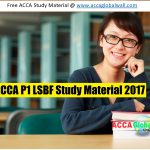 ACCA P1 LSBF Study Material 2017 ACCA GLOBAL WALL