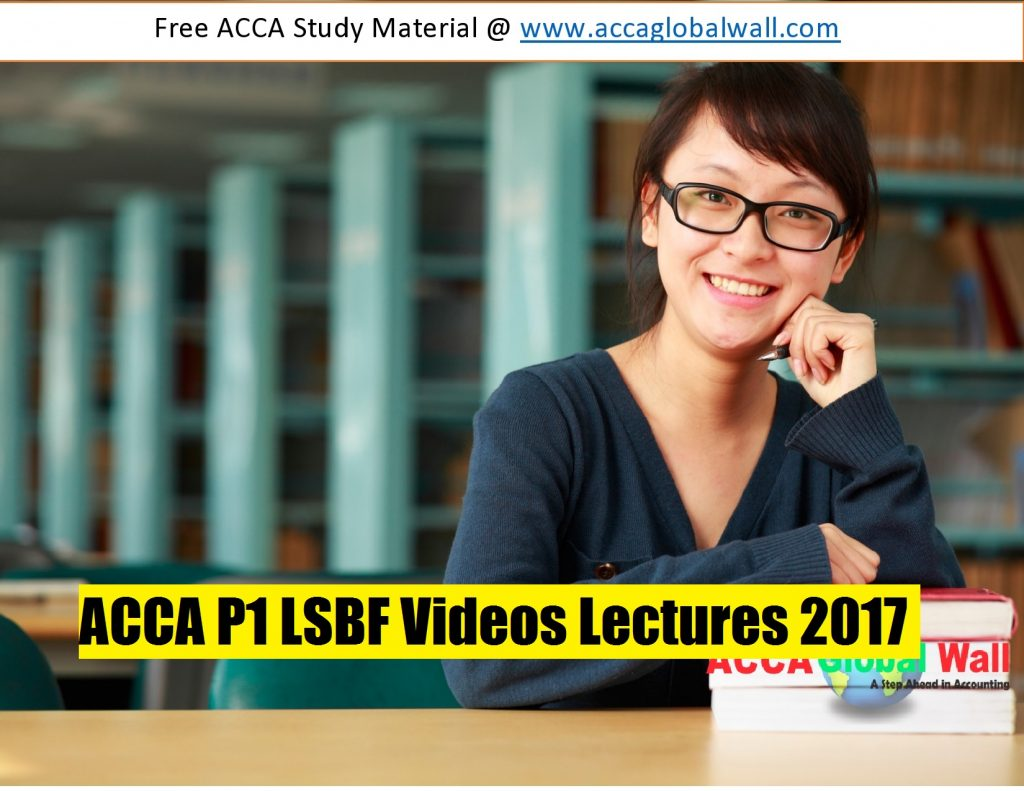ACCA F1 lectures - free online videos - OpenTuition