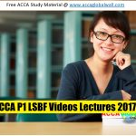 ACCA P1 LSBF Videos Lectures 2017 acca global wall