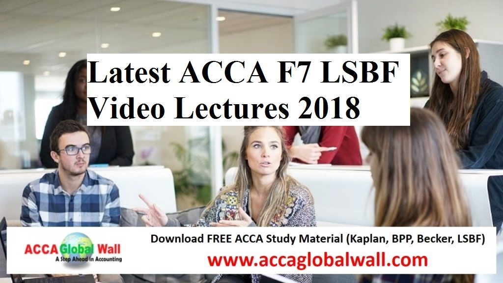 ACCA Study Material - A Global Wall - A Step Ahead in Accounting