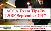 ACCA Exam Tips By LSBF September 2017