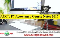 Latest P7 Acowtancy Notes 2017