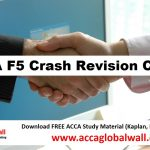 ACCA F5 Crash Revision Course