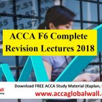 ACCA F6 Complete Revision Lectures 2018