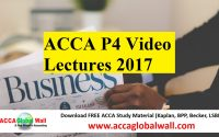 ACCA P4 Video Lectures 2017