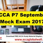 ACCA P7 September mock exam 2017
