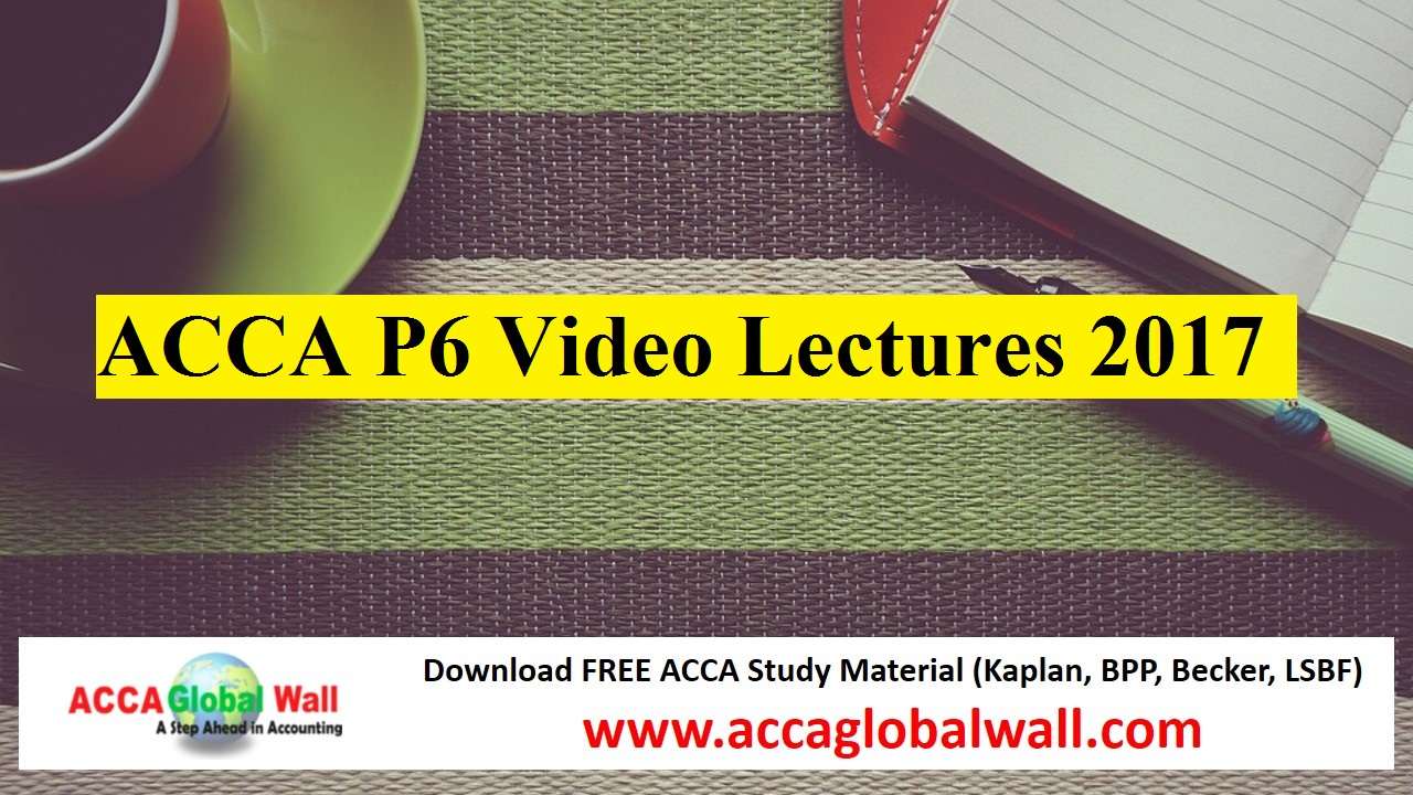 Free ACCA Lectures for the 2018 exams - Study on line, on ...