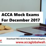ACCA Mock Exams For December 2017