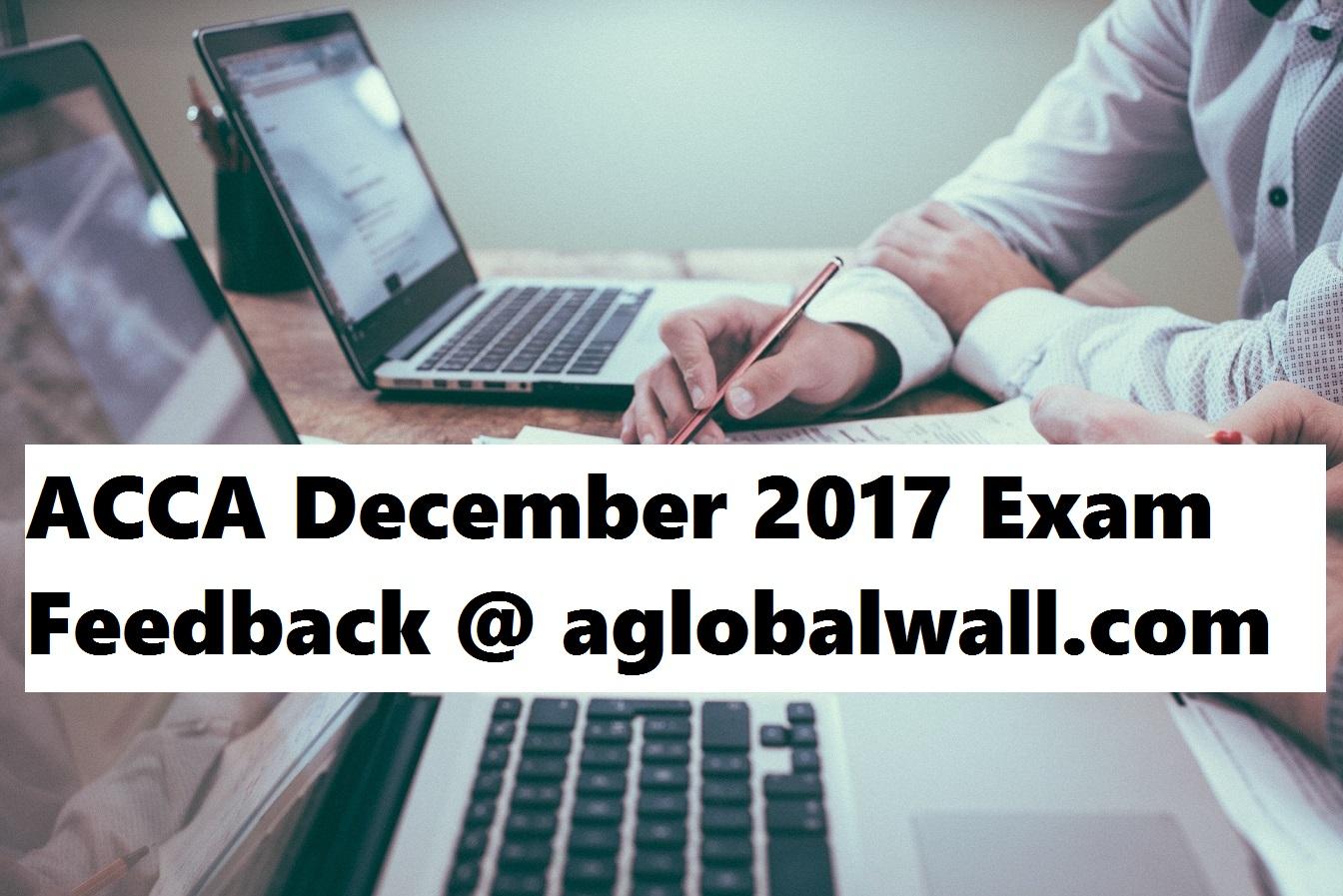 ACCA December 2017 Exam Feedback