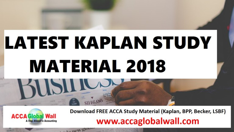 Latest ACCA Study Material Download 2019 - 2020 - ACCA Study Material