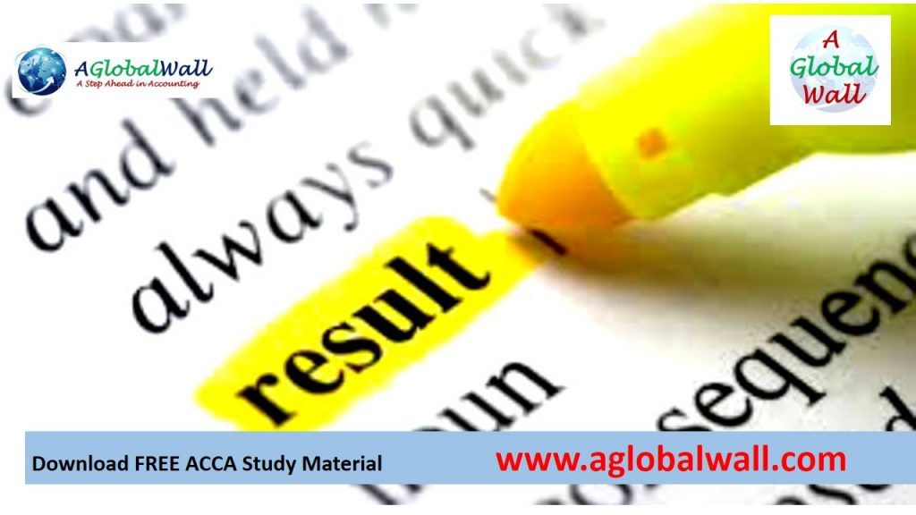 ACCA March 2018 exam results