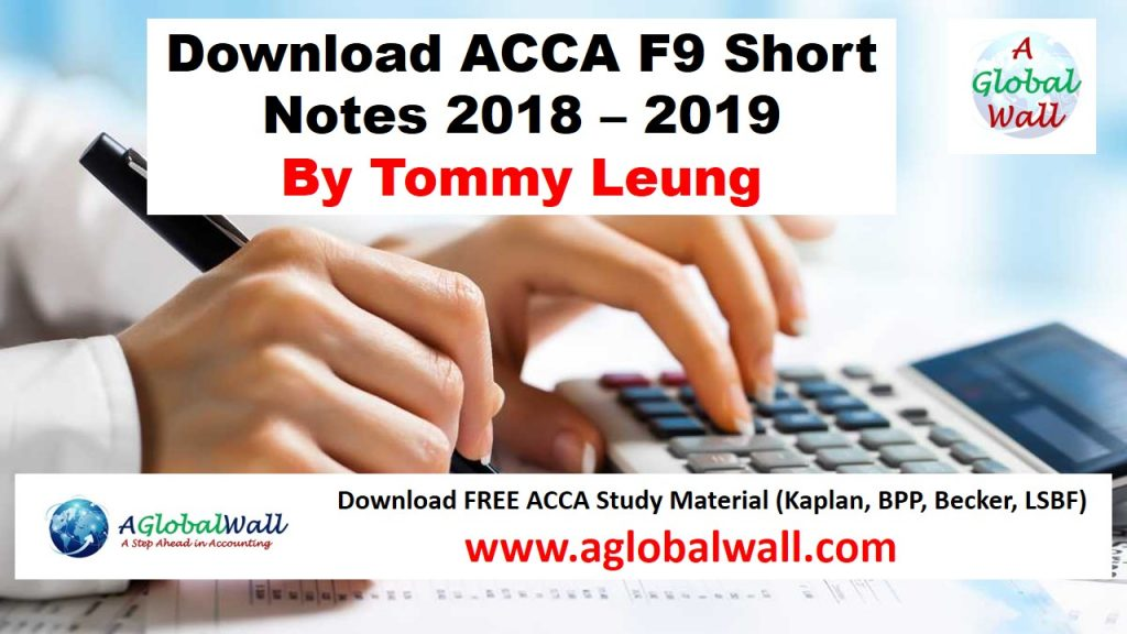 Download ACCA F9 Short Notes 2018 - 2019