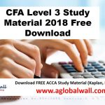 CFA Level 3 Study Material 2018 Free Download