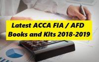 Latest ACCA FIA / AFD Books and Kits 2018-2019