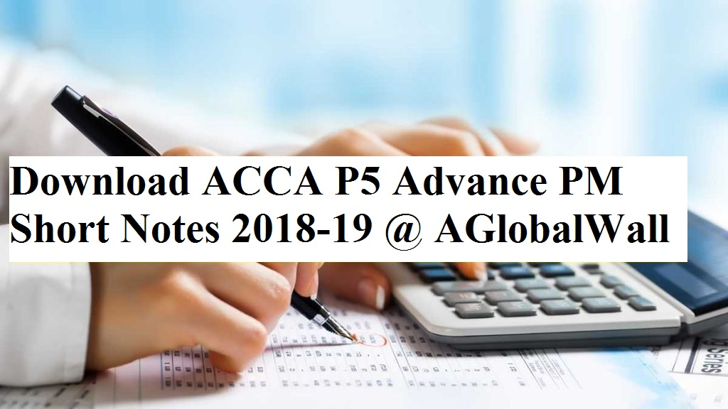 ACCA P5 Study Notes by Sir Rizwan Maniya