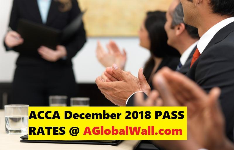 ACCA December 2018 PASS RATES