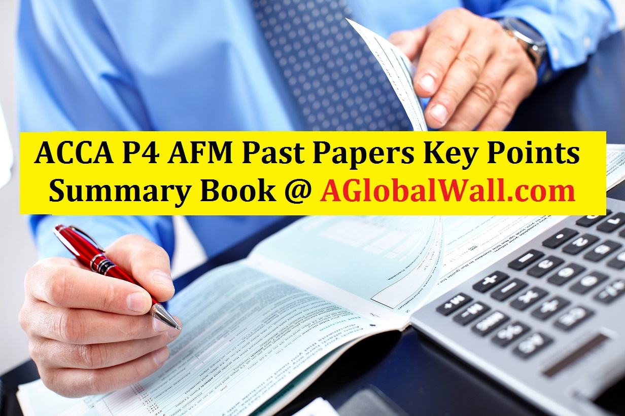 ACCA P4 APM Past Papers Key Points
