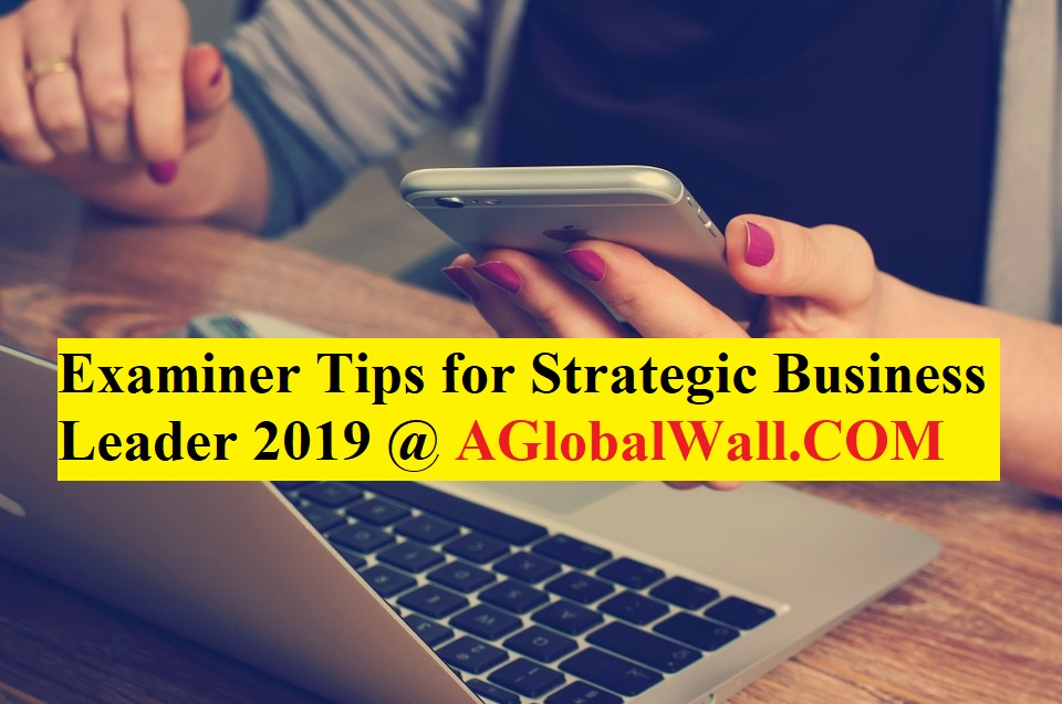 Examiner Tips for Strategic Business Leader