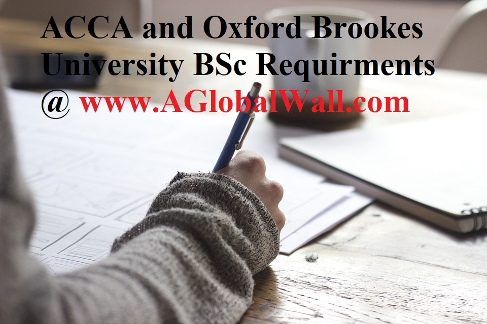 ACCA and Oxford Brookes University BSc Requirments