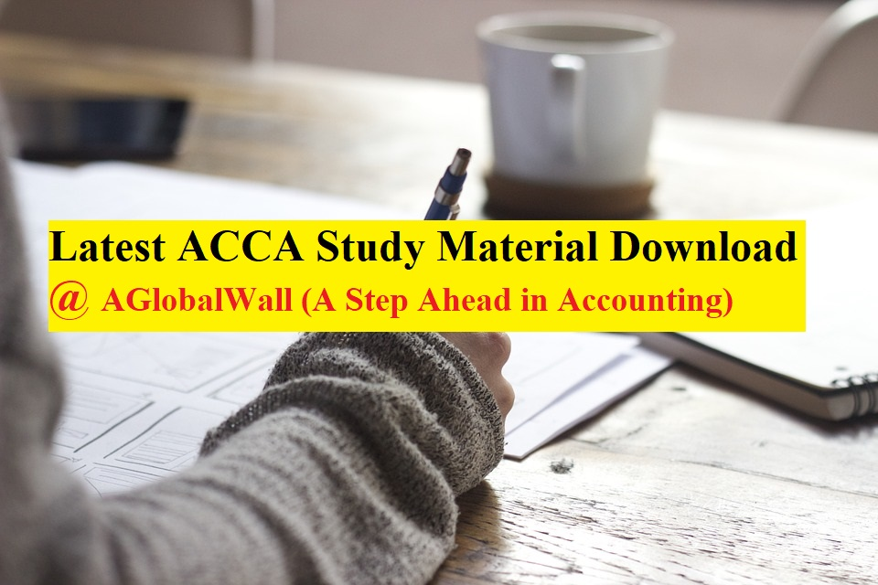 Latest ACCA Study Material Download 2019 - 2020